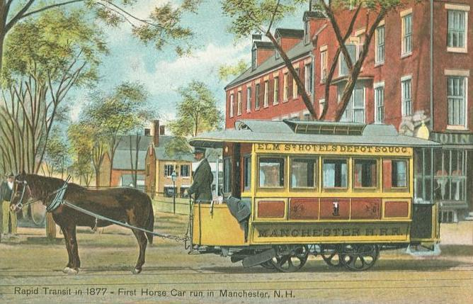 First_Horsecar_Run_in_Manchester,_NH
